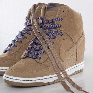 Nike Dunk Sky Hi Suede Wedge Sneakers